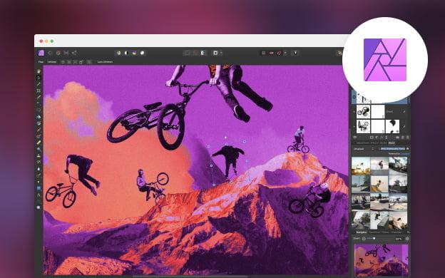 Unsplash API partner preview for Affinity Photo