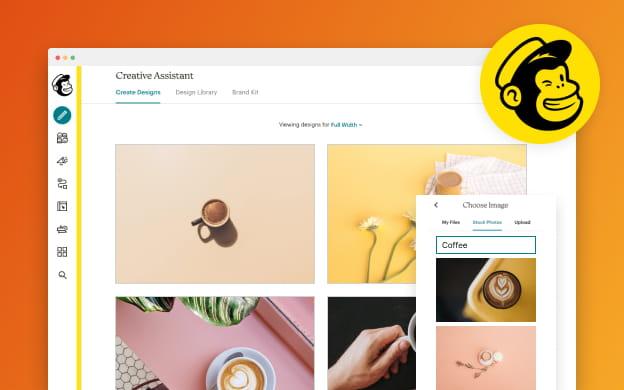 Unsplash API partner preview for Mailchimp