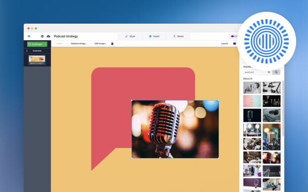 Unsplash API partner preview for Prezi