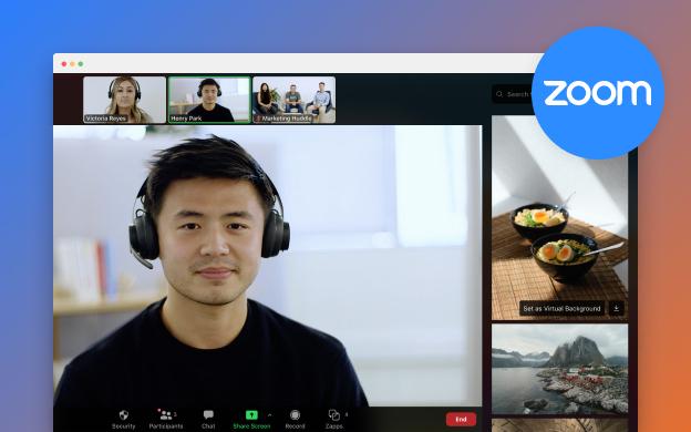Unsplash API partner preview for Zoom