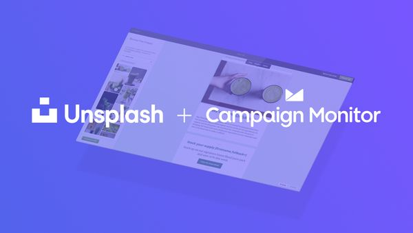 Unsplash + Campaign Monitor